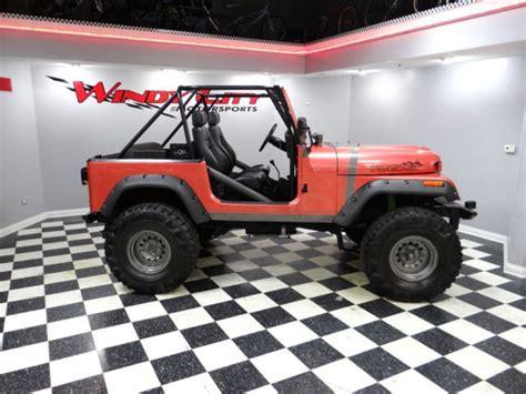 91 Jeep Wrangler For Sale 91 Jeep Wrangler 4x4 Custom Roll Cage Custom Paint Lifted