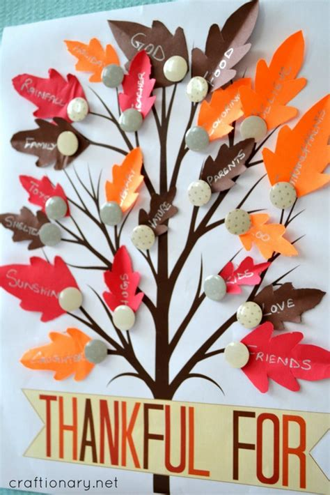 thankful tree craft for craftionary