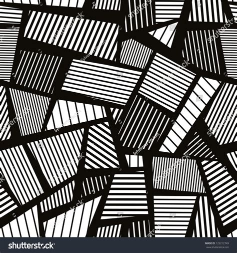 seamless abstract pattern vector abstract lines black and white seamless pattern vector