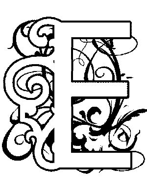 medieval alphabet coloring pages illuminated e coloring page middle ages pinterest