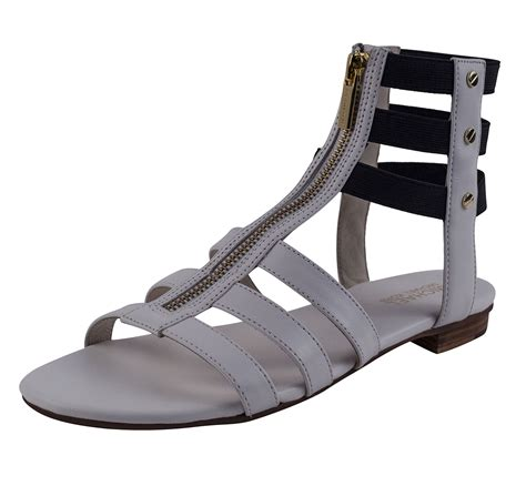 mk sandals michael kors mk codie gladiator sandal optic strappy flat