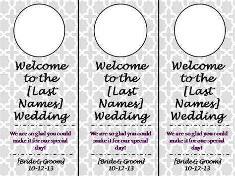 wedding door hangers template 301 moved permanently