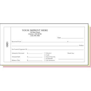 Funeral Receipt Template by Funeral Receipt Book Duplicate With Imprint Hd Supply