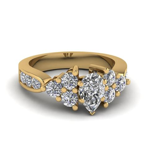 7 Engagement Rings From Since1910 by Yellow Gold Pear White Engagement Wedding Ring In