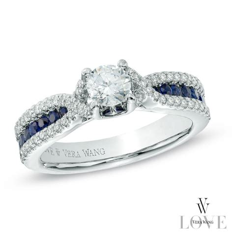 vera wang love collection 3 4 ct t w diamond and blue