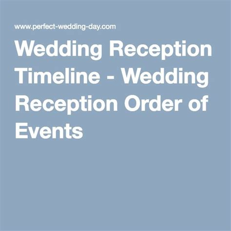 Wedding Order Of Events by Best 25 Reception Order Of Events Ideas On