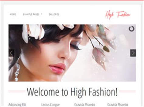 High Fashion Free Website Template Free Css Templates Free Css High Fashion Website Templates