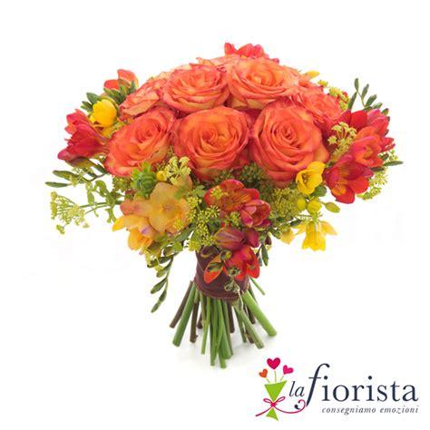 fresie fiori vendita bouquet di arancio e fresie consegna fiori a