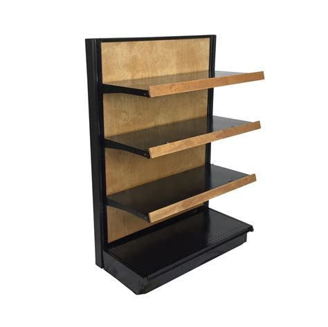 display shelving gondola shelving black end cap display for retail