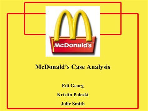 Mcdonald Case Study Ppt Mcdonalds Ppt Mcdonalds Powerpoint Template