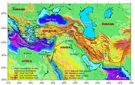 middle east earthquake map gerede segment of the anatolian fault mountain