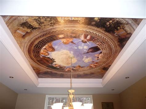 L For Ceiling by Mural And Tray Ceiling Trompe L Oeil Home
