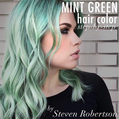 mint green hair color mint green hair color step by step steven robertson