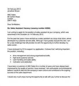 covering letter exles for retail 10 retail cover letter templates free documents