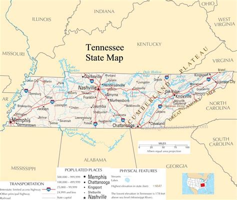 map us by state index of united states maps tennessee maps