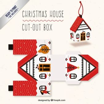 christmas box house packaging template vectors photos and psd files free download