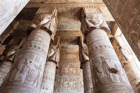 No Ceiling Meaning by Most Magnificent Temple Artwork At Hathor Temple