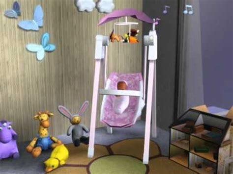 sims 2 baby swing enkele knuffelkonijn luxe babyschommel solace snugabunny