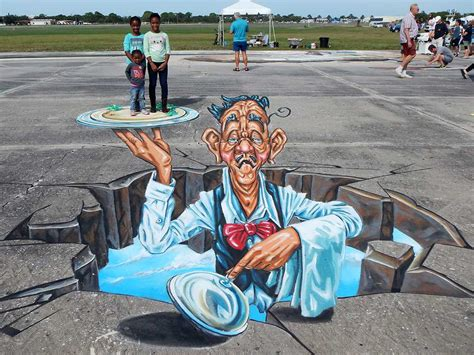 chalk paint venice fl 3d streetpainting at sarasota chalk festival 2015 3d