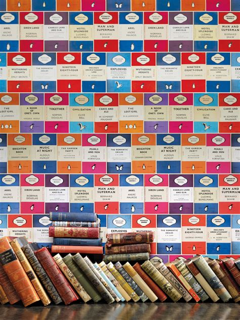 wallpaper design book penguin library book wallpaper by osborne little fresh