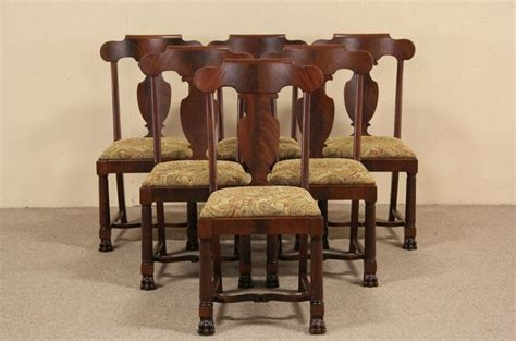 antique mahogany dining room furniture set of six 1900 antique empire mahogany dining chairs paw empire dining room