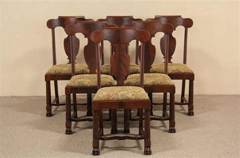 antique mahogany dining room furniture set of six 1900 antique empire mahogany dining chairs paw