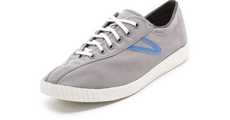 tretorn nylite canvas sneakers in gray for lyst