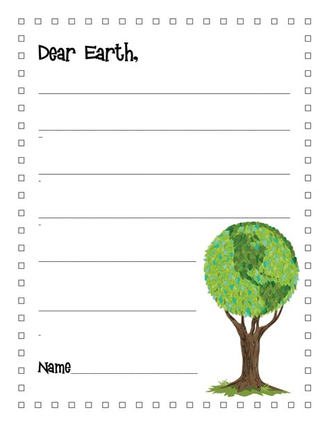 How To Make Paper Earth - literacy minute earth day writing paper and bookmark