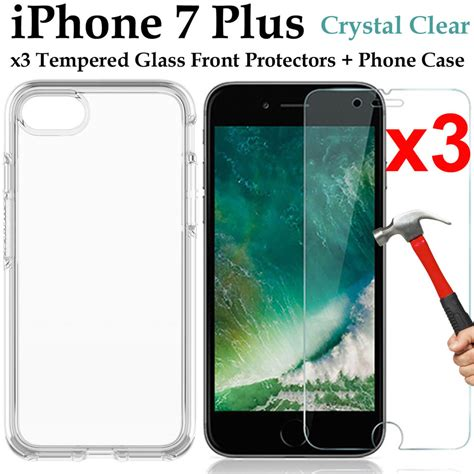 Tempered Glass Kartun Karakter Cover Iphone 7 Plus Dijamin 3 apple iphone 7 plus tempered glass front screen protector and clear cover ebay