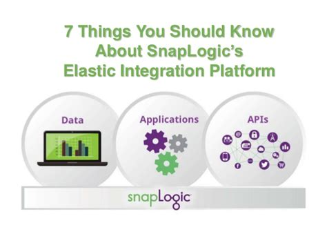 7 Things You Should About by 7 Things You Should About The Snaplogic Elastic