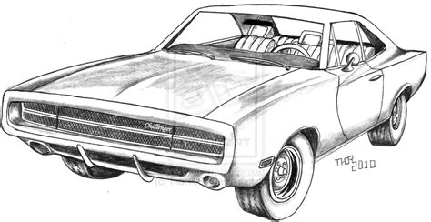 How To Draw A 1970 Dodge Challenger Sketch Coloring Page Dodge Charger Para Colorir
