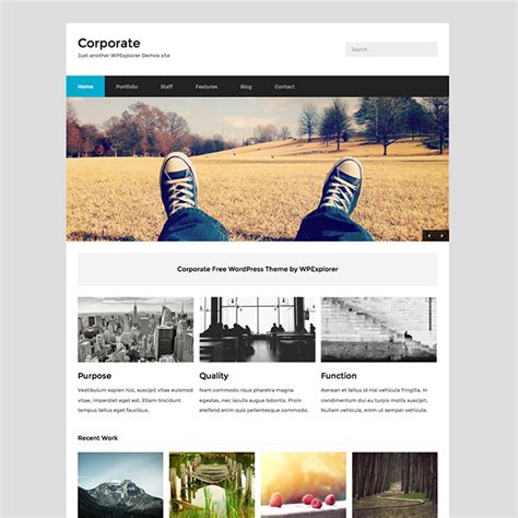 template free themes corporate free business theme wpexplorer
