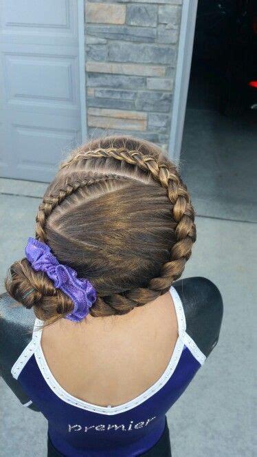 gymnast hairstyles gymnastics hair braids hair pinterest gymnastics