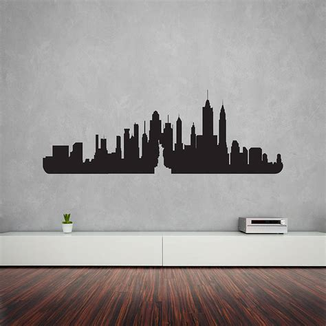 wall vinyl new york city skyline wall art decal by vinyl revolution