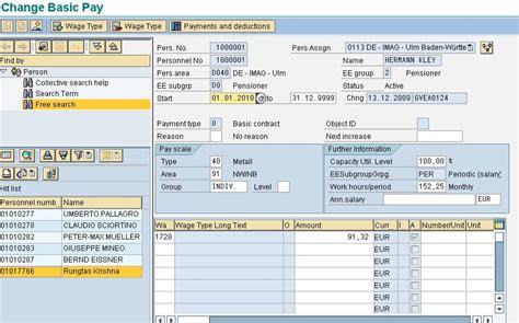 sap jsp tutorial sap wage types tutorial primary secondary dialog time