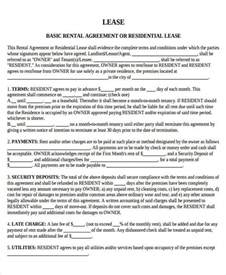 landlord tenant lease agreement template 32 lease agreement forms in pdf