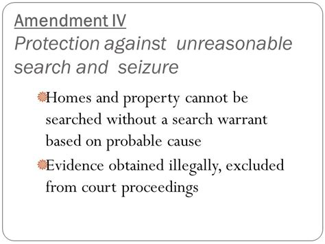 The Amendment Protects From Unreasonable Search And Seizure Agenda Mon 9 26 Tues 9 27 Review Bar Ppt