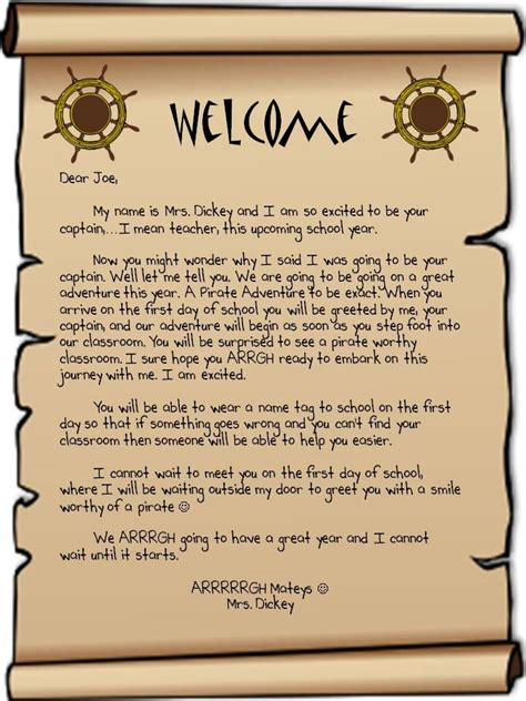 Parent Greeting Letter classroom welcome letter for new this is a