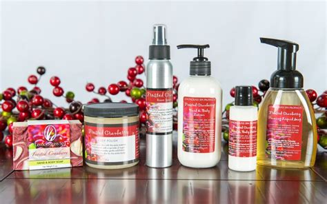Handmade Spa Products - frosted cranberry ripe cranberries collide with