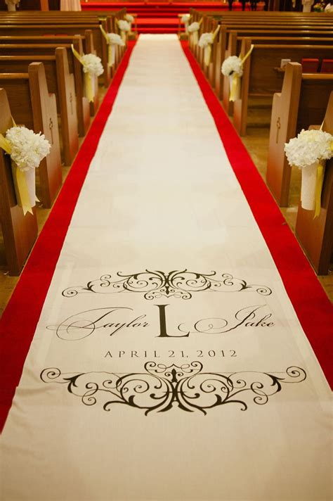 Wedding Aisle Runner Monogram by Custom Monogram Carpet Wedding Aisle Runner Custom Aisle