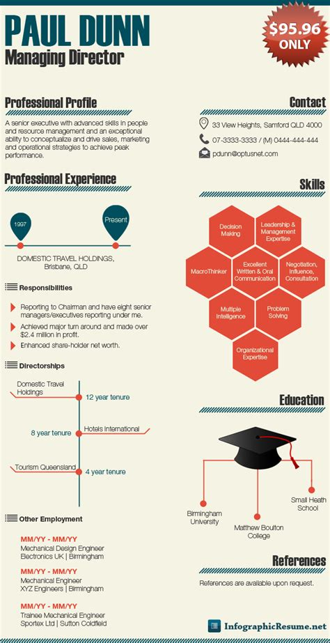 infographic resume template sles infographic resume
