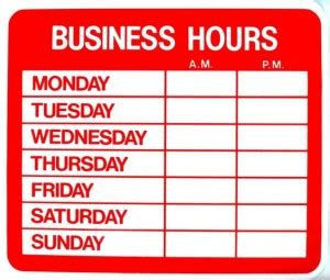 hours of operations template work from home salon hours establishing boundaries ask