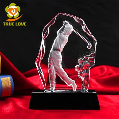 Cheap Golf Giveaways - cheap crystal golf prizes trophy tl 0119 crystal trophies glass awards 3d laser crystal