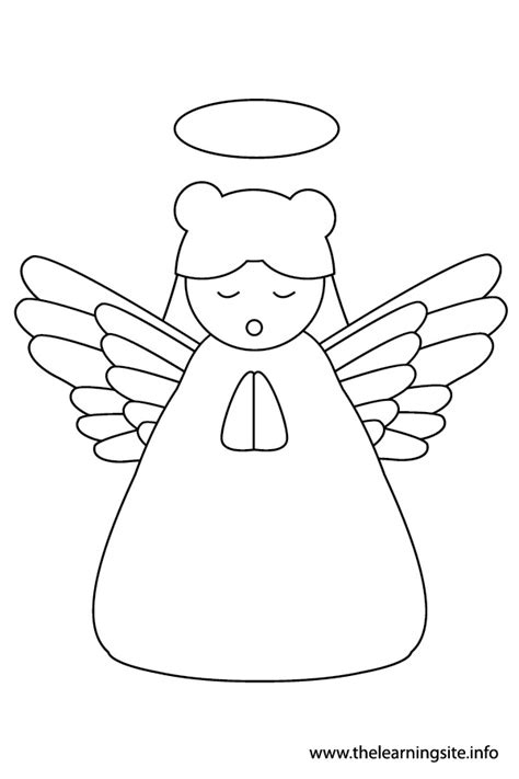 angel outline coloring page best photos of christmas angel outline christmas angel