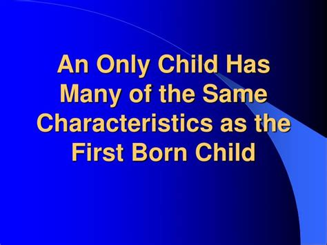 born with characteristics ppt birth order powerpoint presentation id 842072
