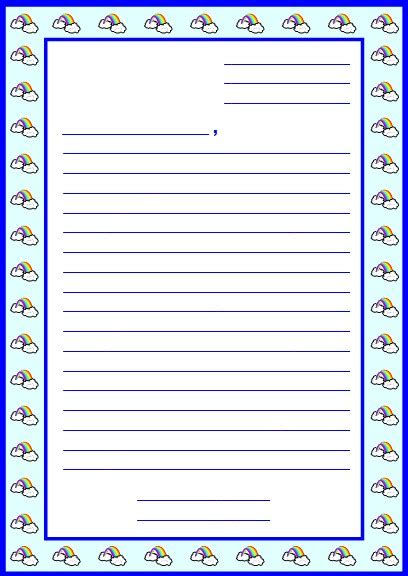 10 Best Images Of Postcard Writing Template For Kids Printable Friendly Letter Template For Letter Template Ks1