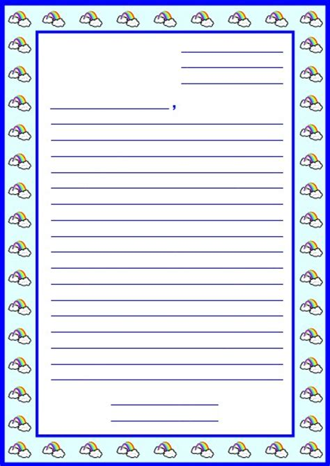 writing a letter template for