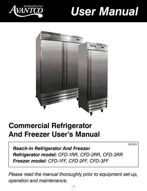 User Manual Avantco Refrigeration Manualzz Com
