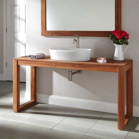 single console vanity 48 quot modern console vanity for vessel bathroom sinks