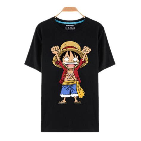 T Shirt Luffy Punch one luffy straw hat black t shirts anime store